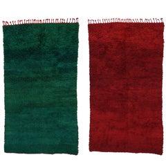Bauhaus Style Vintage Beni M'Guild Moroccan Rug, Berber Moroccan Reversible Rug