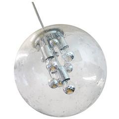 Space Age Sputnik Globe Pendant by Doria, Germany, 1970s