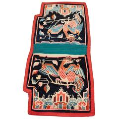 Antique Tibetan Wool Saddle Blanket
