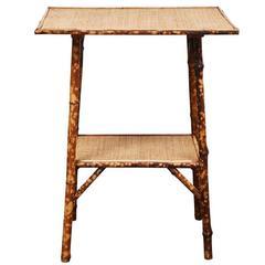 English Victorian Bamboo Table