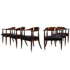 Set of Six Mid-Century Modern Style Dining Chairs