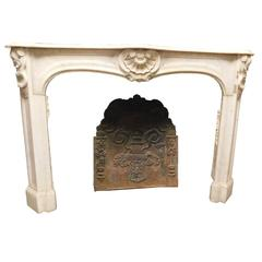 Antique Fireplace Mantel Made of Carrara's Marble