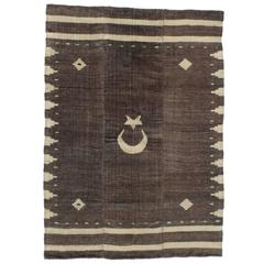 Angora Blanket with Crescent and Star
