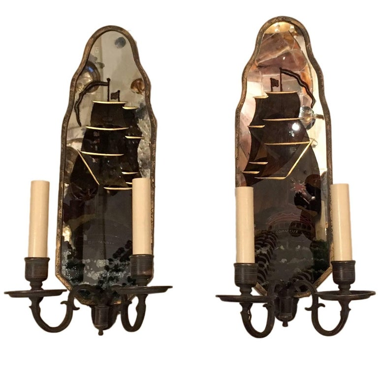 Pair of Nautical Caldwell Sconces For Sale