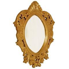 18th Century Baroque Heavy Arab Massive Mirror Hand-Carved, Giltwood