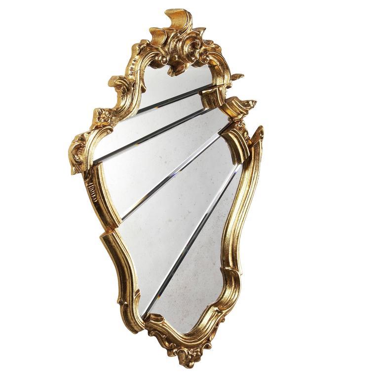 Mirror Classic Frame Golden Rococo Italian Limited Edition Design