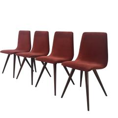 Rare Mid-Century Dining Chairs, Attributed to Gj Van Os, 1950s