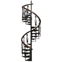 Antique Victorian Spiral Staircase Clockwise