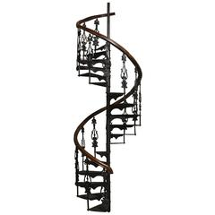 Antique Victorian Spiral Staircase Clockwise