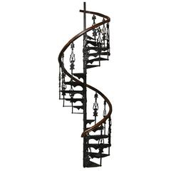 Antique Victorian Spiral Staircase Counterclockwise