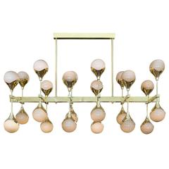 """Grigio Perla"" Murano Glass Sphere Chandelier"