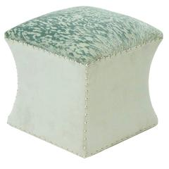 Sculpted Ottoman with Designers Guild Velvet