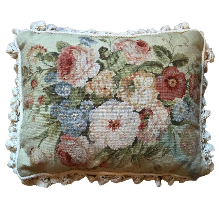 Decorative pillows vintage french style aubusson pillow cushion for sale at 1stdibs - Decorative throws for furniture ...
