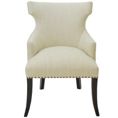 Custom Dining Room Chair with Hourglass Back