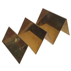 Handcrafted Solid Brass Letter Holder Made in Italy by Gallotti & Radice
