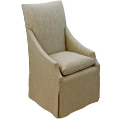 Customizable Slope Armchair with High Back and Skirt