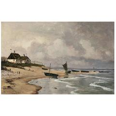 Coastal Scene by Alfred Olsen