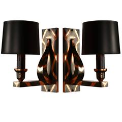 Pair of Japan-Finish Sconces