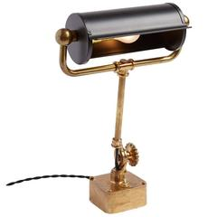 Table Mounted Brass Nautical Desk Lamp, circa 1940s