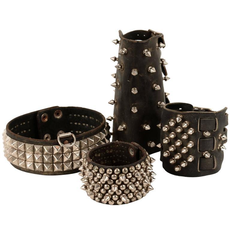 Studded Leather Accessories For Sale