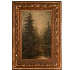 19th Century Forest Painting