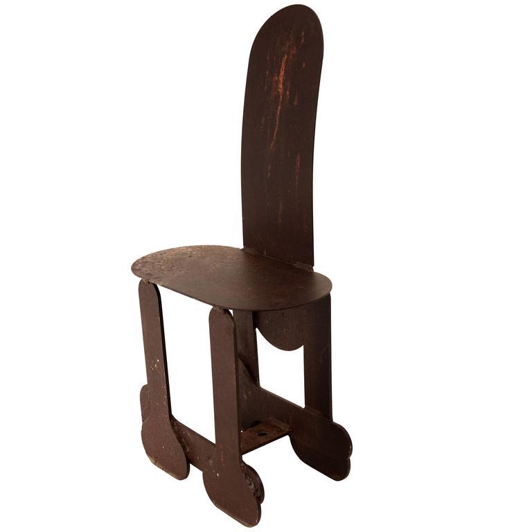 Phallic Steel Chair For Sale