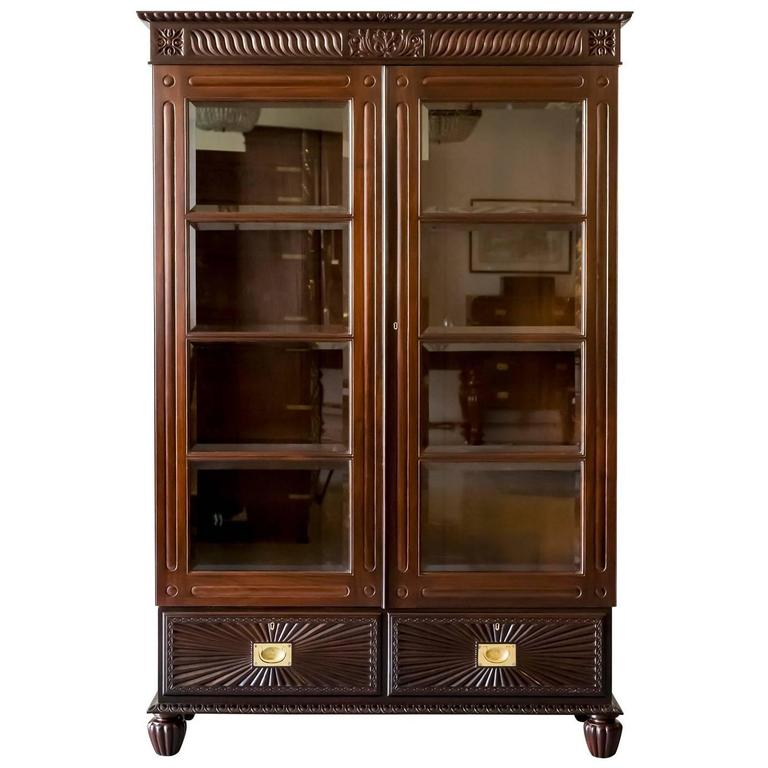 Antique Anglo Indian or British Colonial Rosewood Bookcase  : CUP3921D1orgl from www.1stdibs.com size 768 x 768 jpeg 54kB