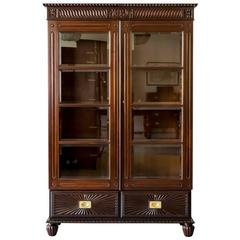 Antique Anglo-Indian or British Colonial Rosewood Bookcase