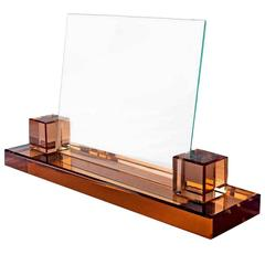 Impressively Large Art Deco Modernist Glass Picture Frame