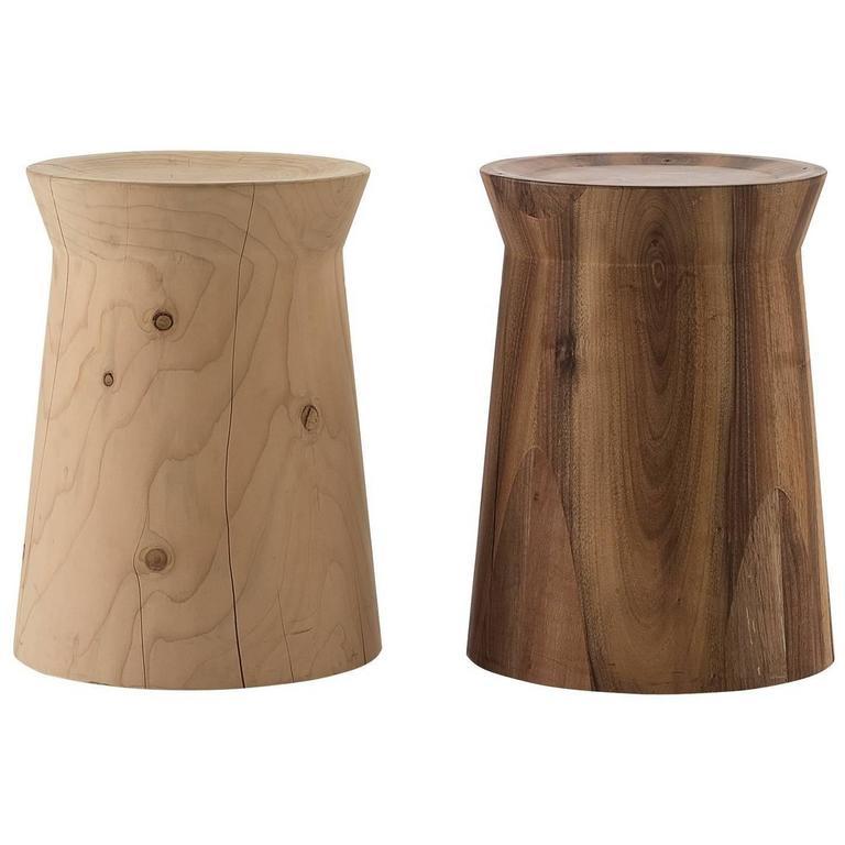 Poliform Dama Side Table Or Stool In Solid Cedar Or
