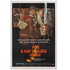 """For a Few Dollars More / Por Qualche Dollaro in Piu"" Original US Film Poster"