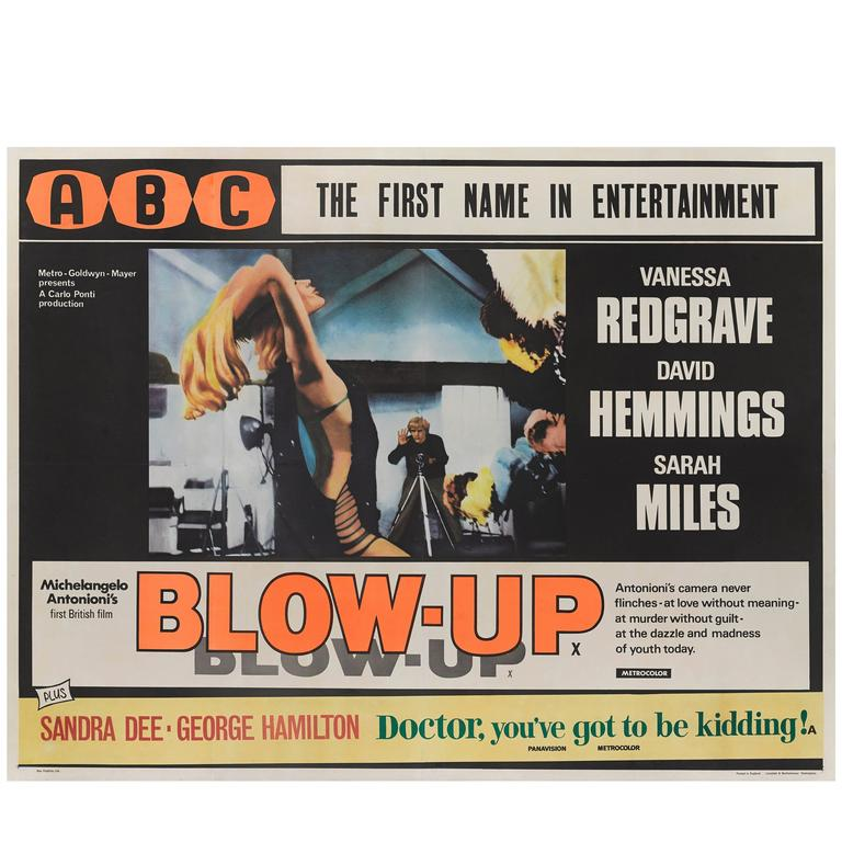 """Blow Up"" Original Film Poster For Sale"