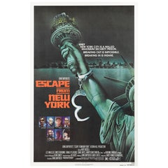 """Escape from New York"" Original US Movie Poster"