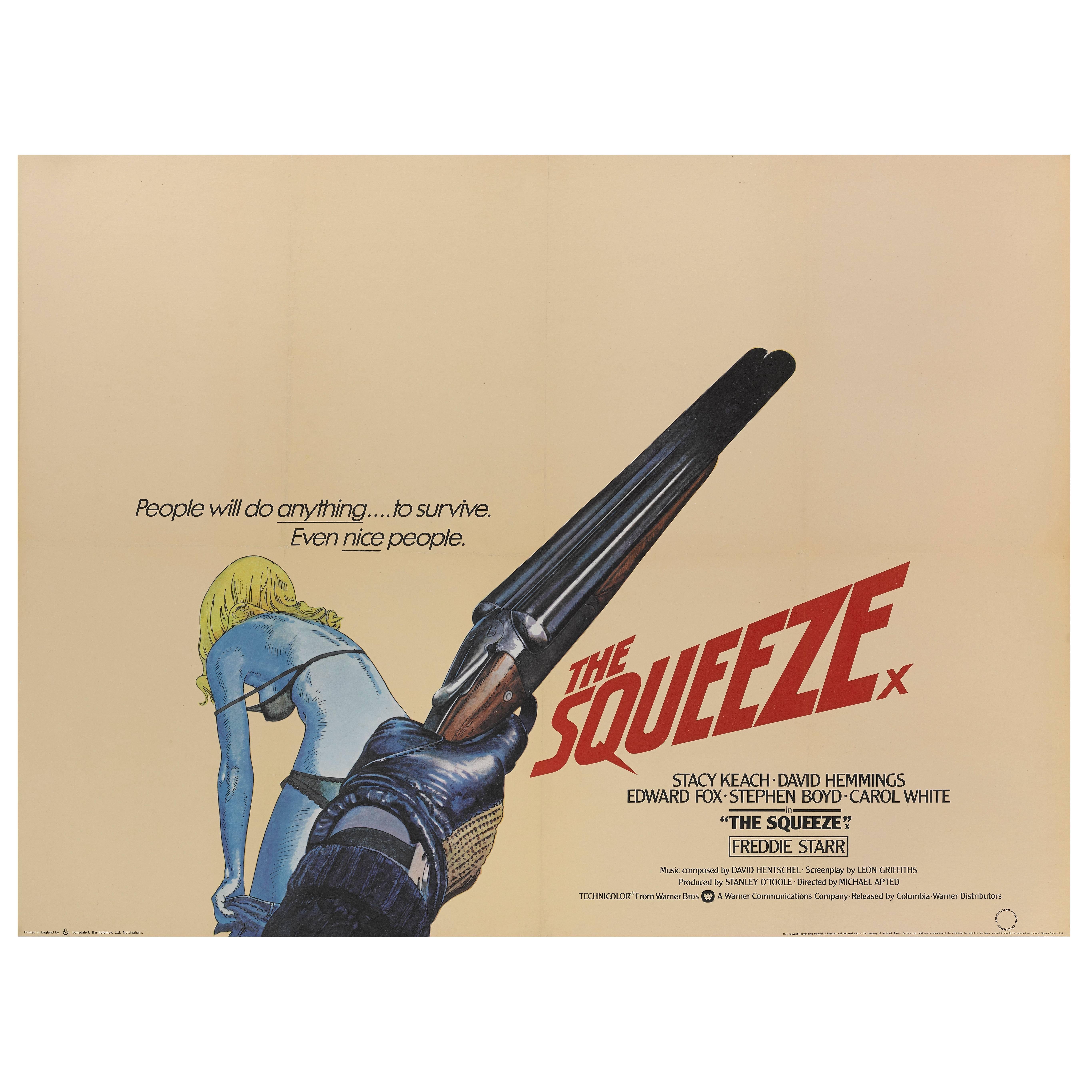 """""""The Squeeze"""" Original British Movie Poster"""