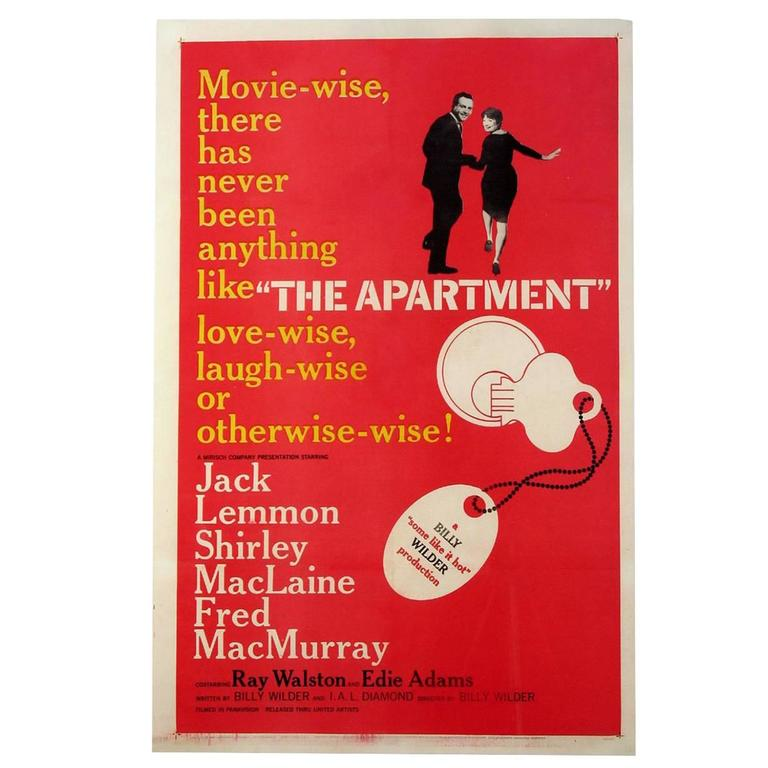 The Apartment Film Poster 1960 For