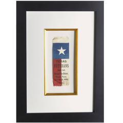 Very Rare Republic of Texas War Veteran Reunion Ribbon
