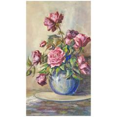 Still Life Floral Painting by California Artist Beatrice Ash