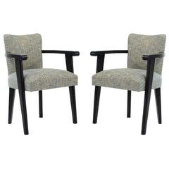 Pair of Baptistin Spade Armchairs
