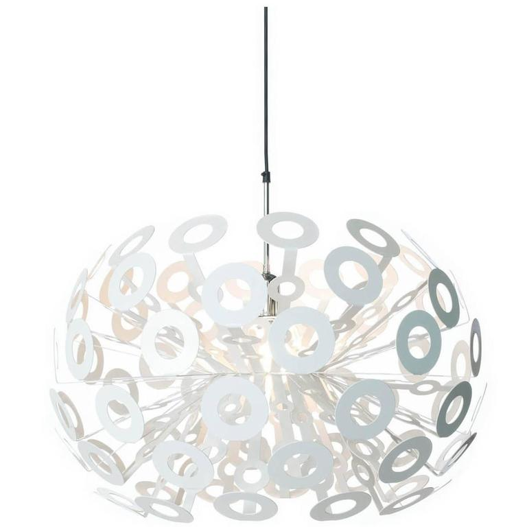 Moooi Dandelion Suspension Lamp in White Powder Coated Metal For Sale