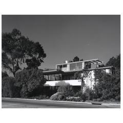 Julius Shulman Photograph of Silver Lake Neutra House