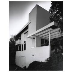 Julius Shulman B & W Photograph of the Droste House by R.M. Schindler