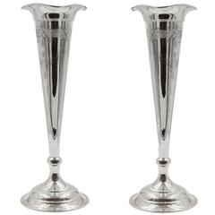 Pair of Trumpet Vases