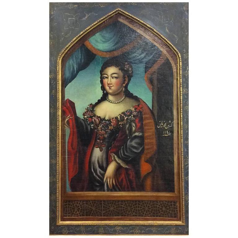 18th Century Portrait of a Qajar Lady