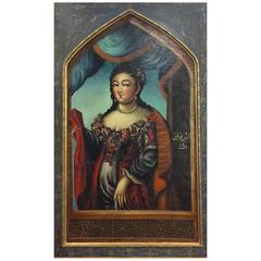 18th Century Portrait of a Qajar Lady