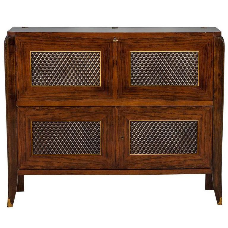 Editions AV Art Deco Rosewood Bar Cabinet