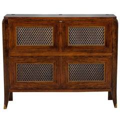 Editions AV Art Deco Rosewood Bar Cabinet