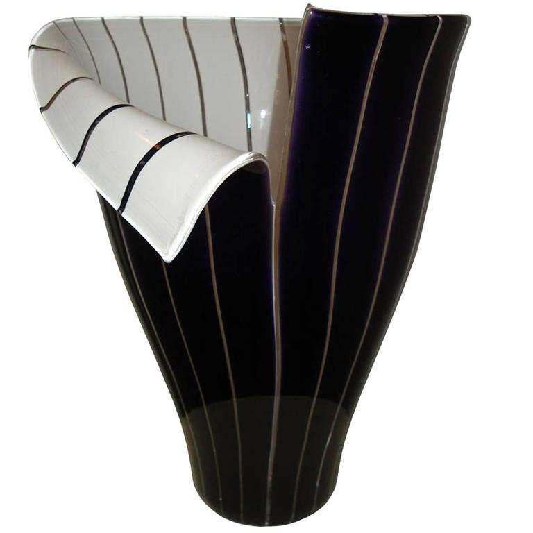 "Murano Glass Vase ""Spacco"" by Tony Zuccheri For Sale"