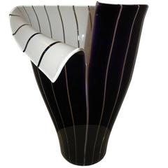 "Murano Glass Vase ""Spacco"" by Tony Zuccheri"