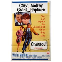 """""""Charade"""" Film Poster, 1963"""