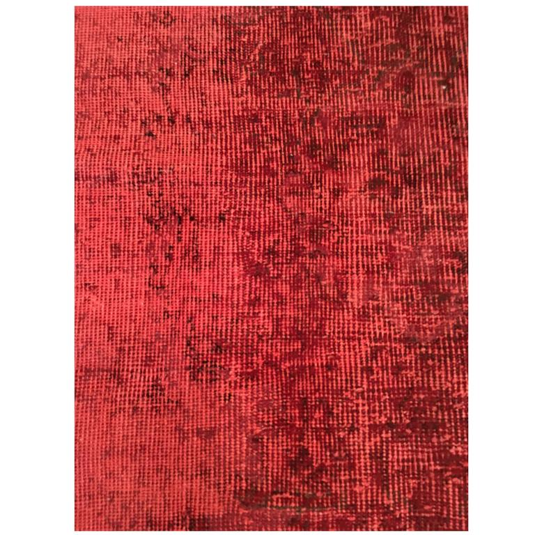 Overdyed Rug in Red, Smaller